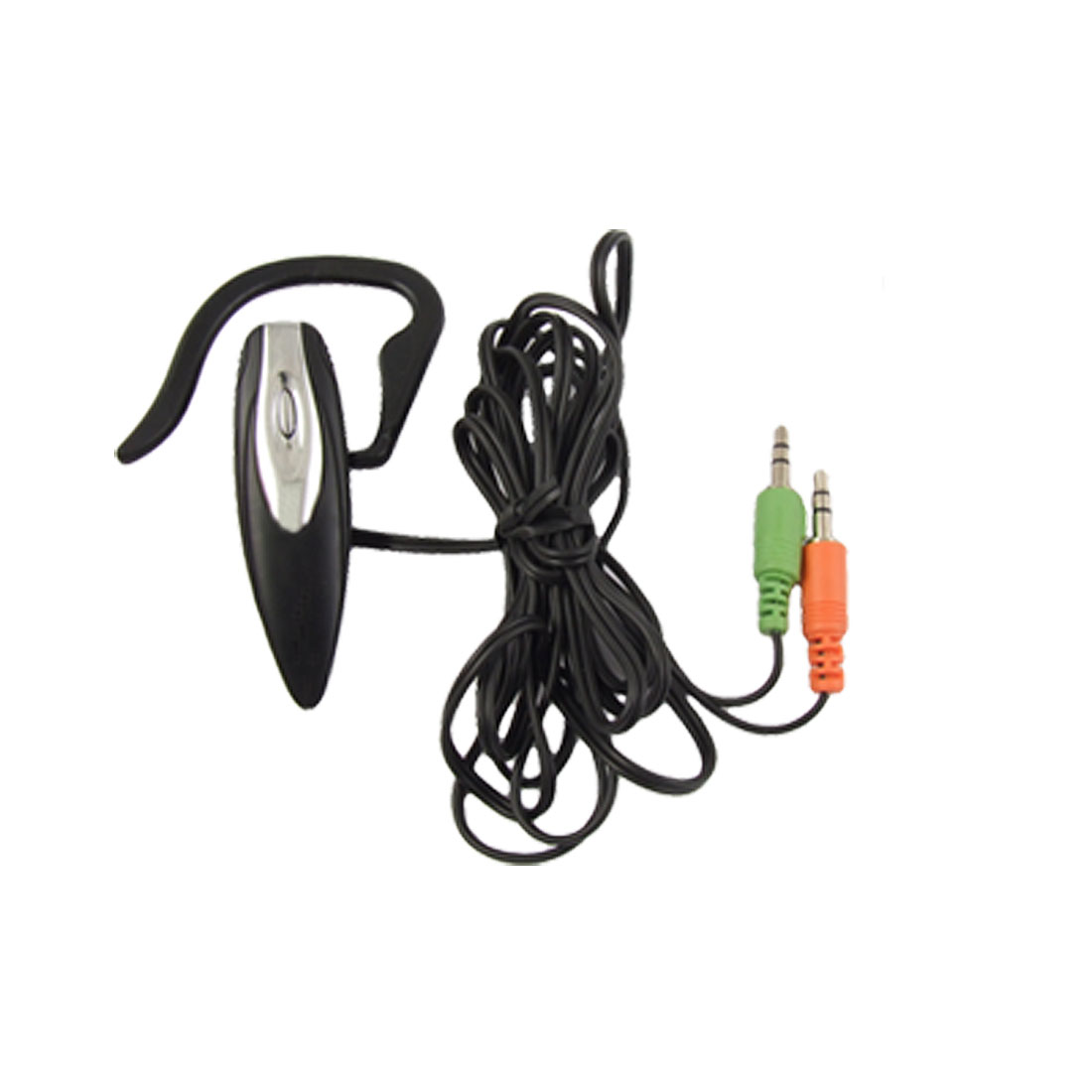 3.5mm Black Wire Plastic Right Ear Hook Microphone Headset