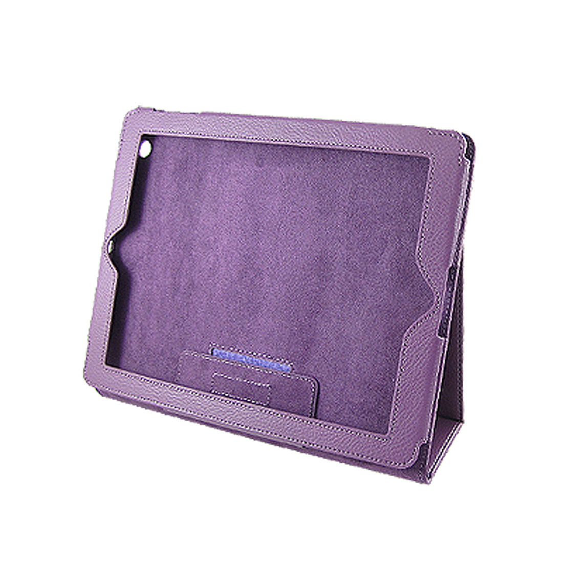 Purple Protective Faux Leather Case Stand for iPad 2 2G