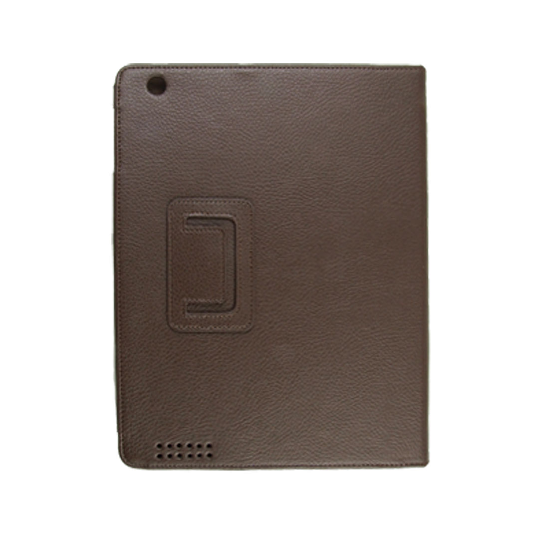 Coffee Flip Stand Faux Leather Cover Pouch for iPad 2 2G