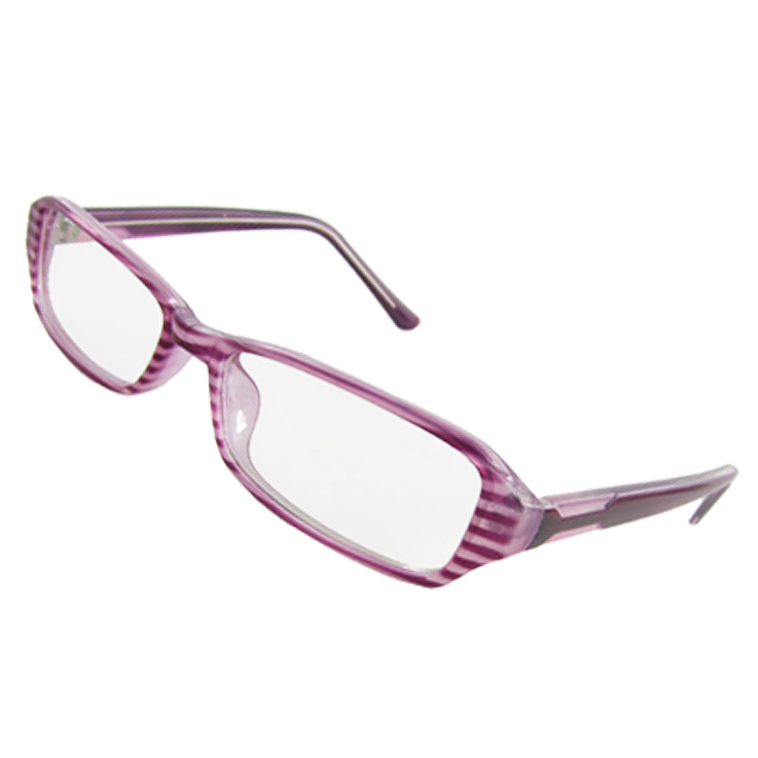 Lady Multi Coated Lens Lavender Striped Full Rim Plano Glasses
