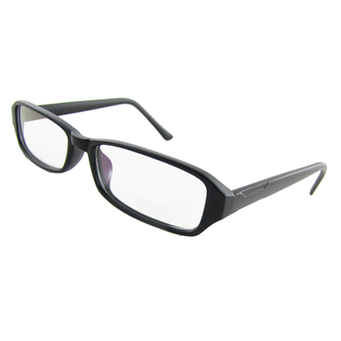 Ladies Multi Coated Lens Black Plastic Arms Plain Glasses