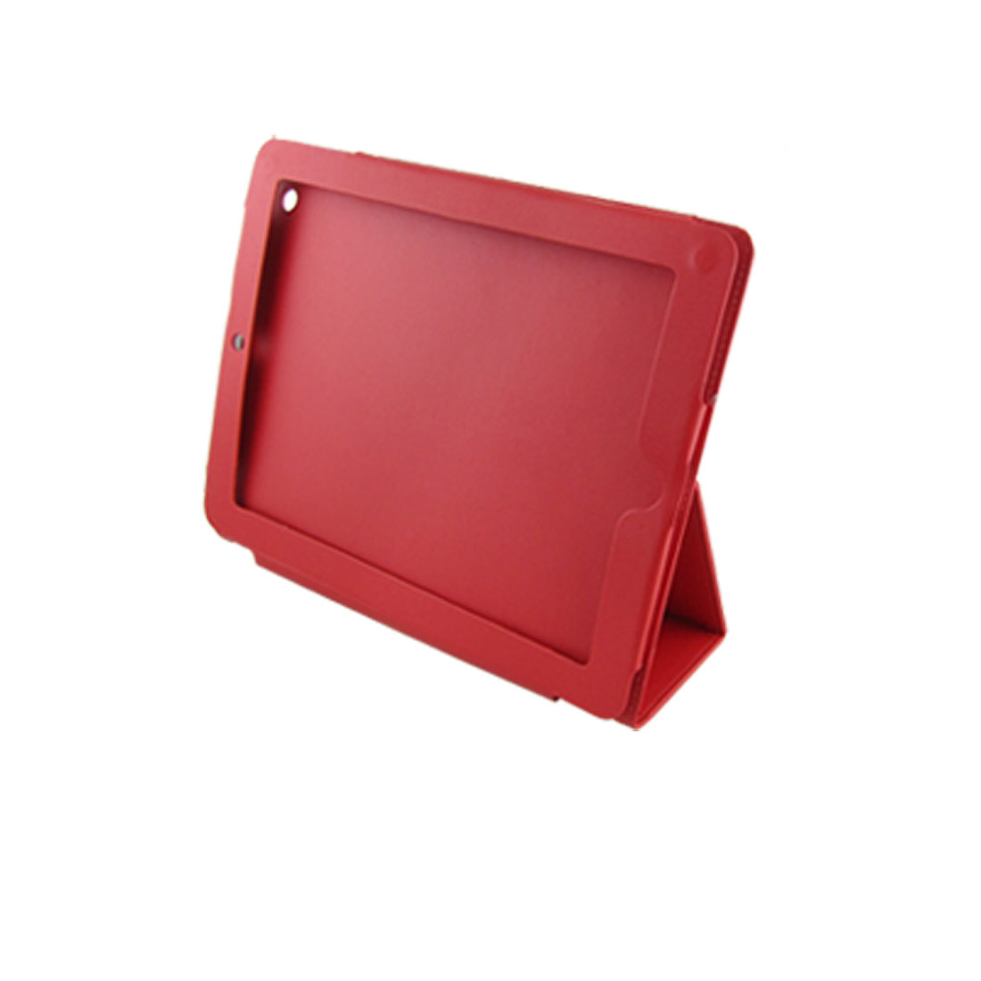 Magnetic Closure Red Faux Leather Pouch Case for Apple iPad 2