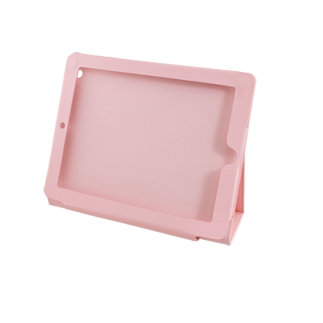 Magnetic Closure Pink Faux Leather Stand Holder Case for Apple iPad 2