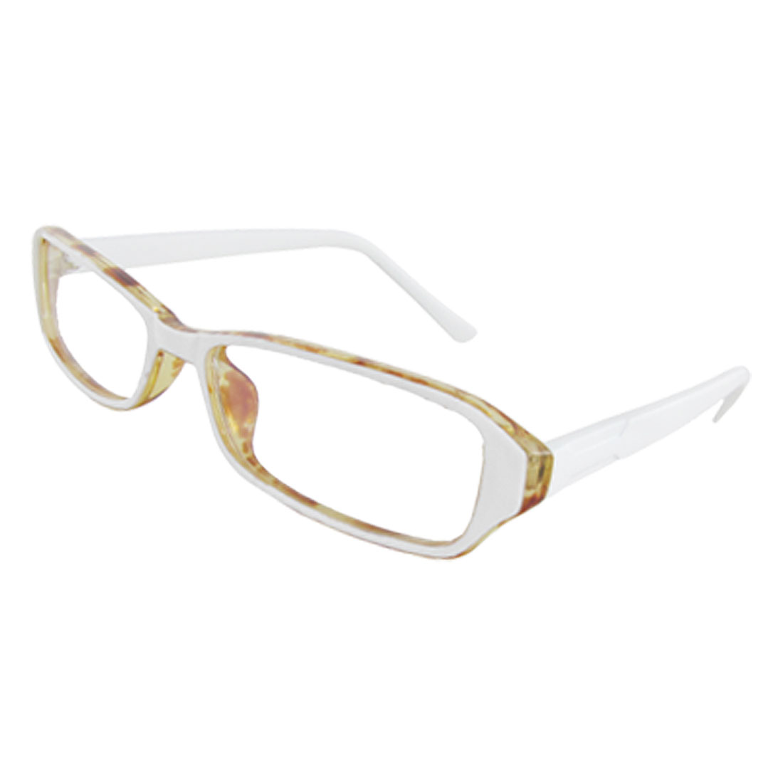 Lady White Arms Leopard Print Frame Multi Coated Lens Plain Glasses