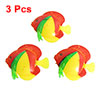 3 Pcs Artificial Floating Plastic Fish Aquarium Ornament