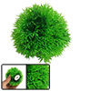 "3.7"" Dia Ball Shape Green Plastic Plant for Fish Tank"