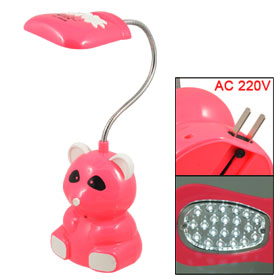 Hot Pink Panda Shape AC 220V 2 Pin Plug LED Desk Light