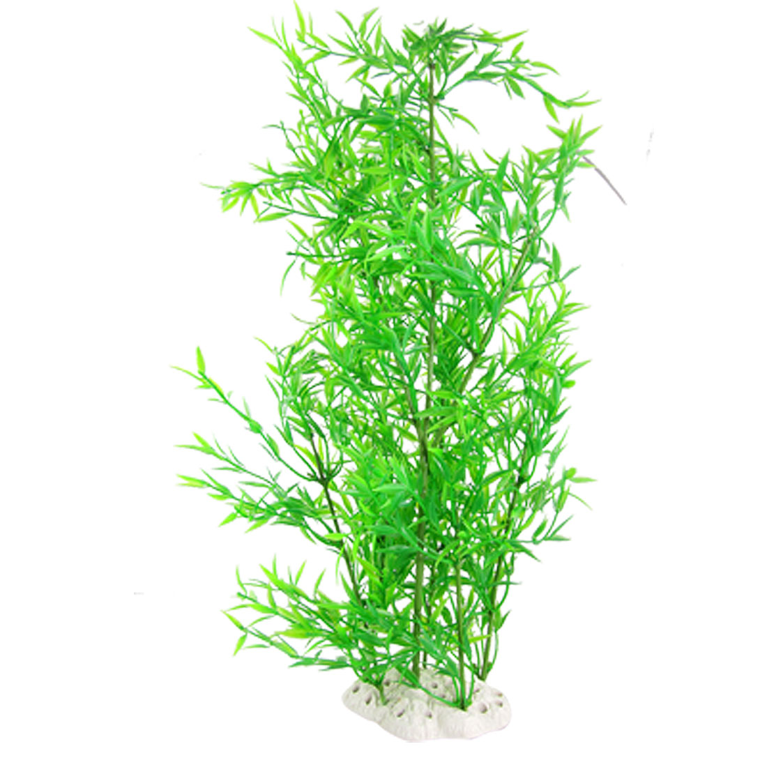 Bamboo Style Artificial Green Plastic Plant Decoration for Fish Tank