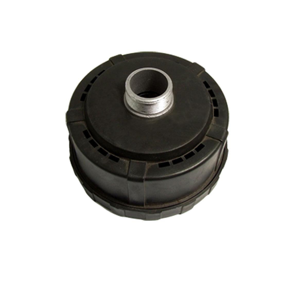 """1 1/4"""" Black Inlet Filter Silencer for Air Compressor"""