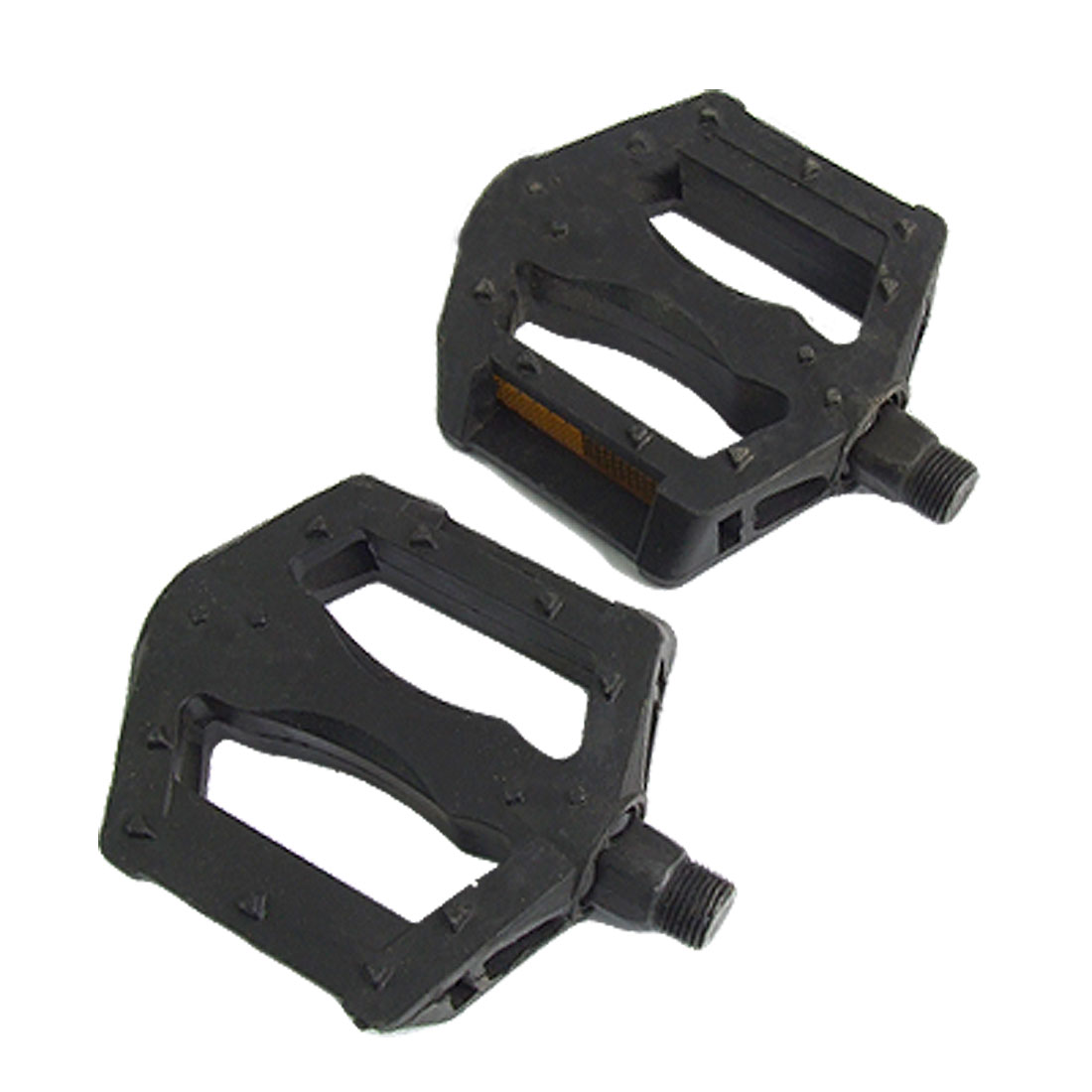 2 Pcs Black Replacement Hard Plastic Bicycle Pedal