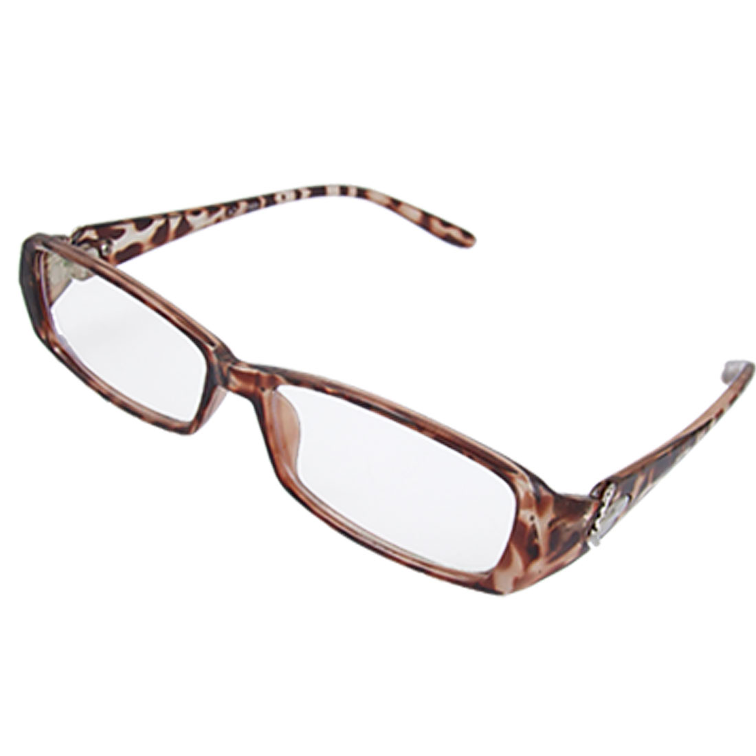 Ladies Leopard Print Full Frame Multi Coated Lens Plain Glasses