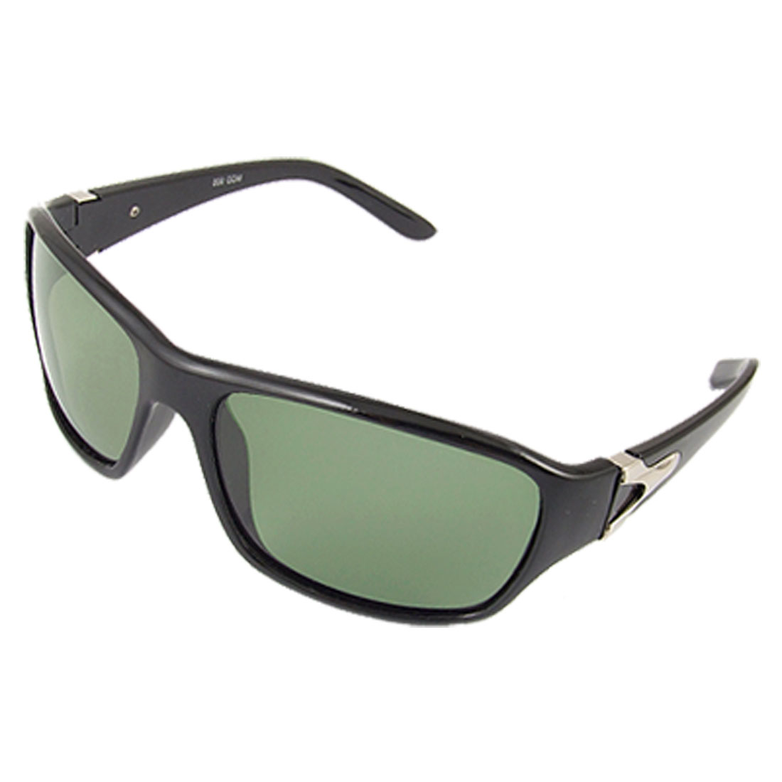 Black Full Rim Plastic Arm Polarized Sunglasses Eyewear for Lady