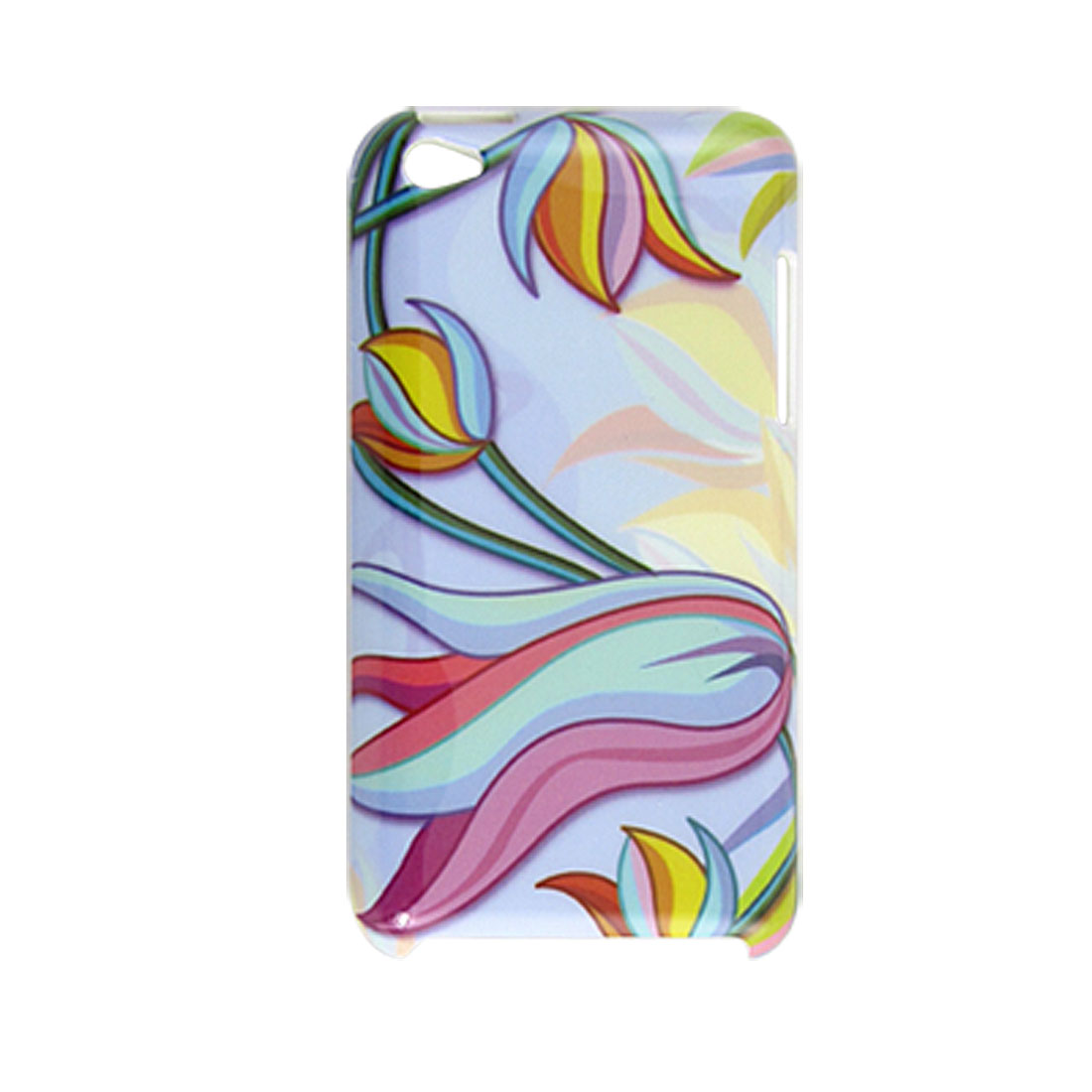 Colorful Floral Print Plastic IMD Back Shell for iPod Touch 4G
