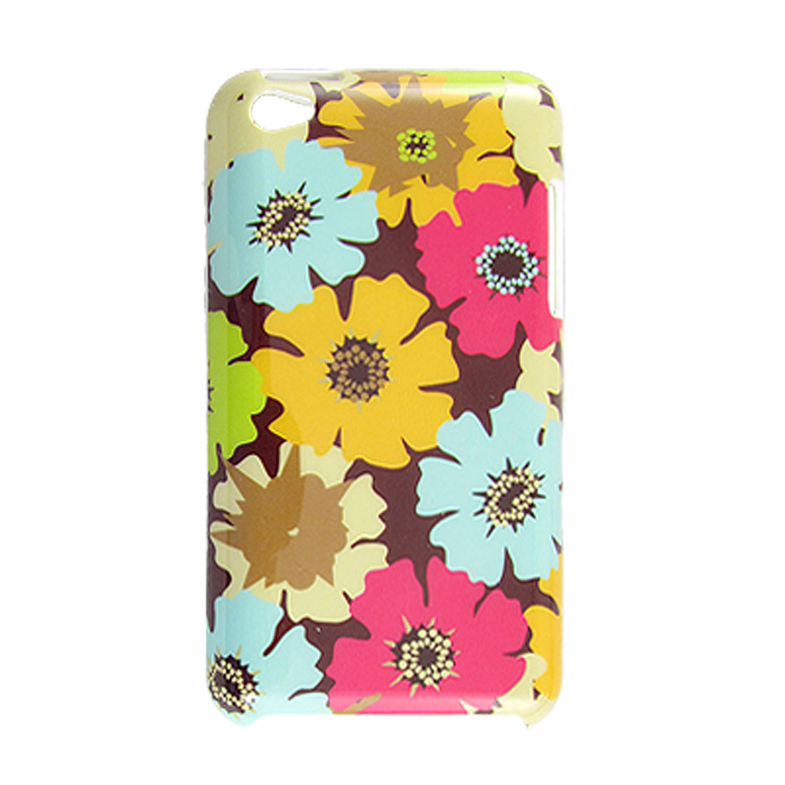 IMD Printed Colorful Flower Pattern Hard Plastic Back Case for iPod Touch 4G