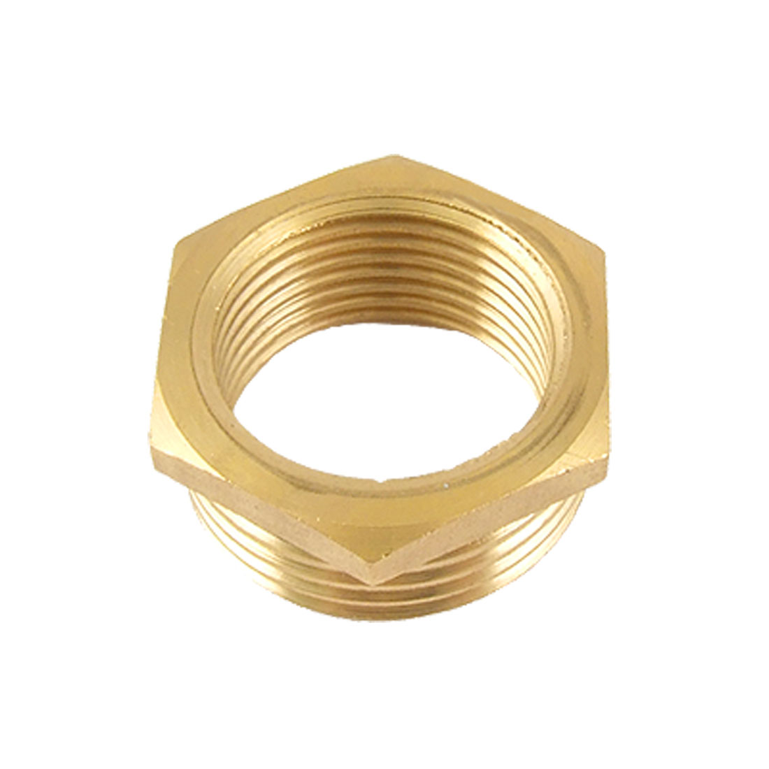 "1.26"" Male 0.98"" Female Thread Pipe Fittings Gold Tone"