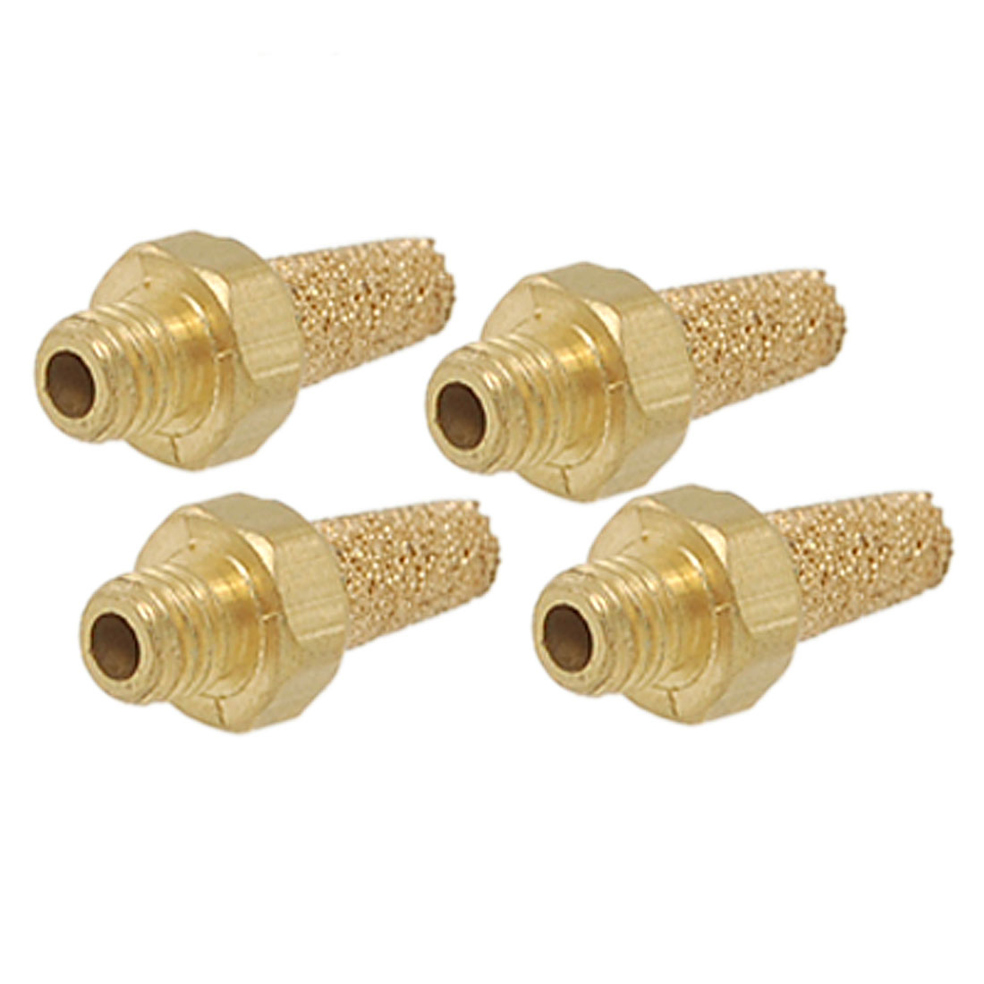 4 Pcs M5 Exhaust Air Noise Sintered Brass Pneumatic Muffler