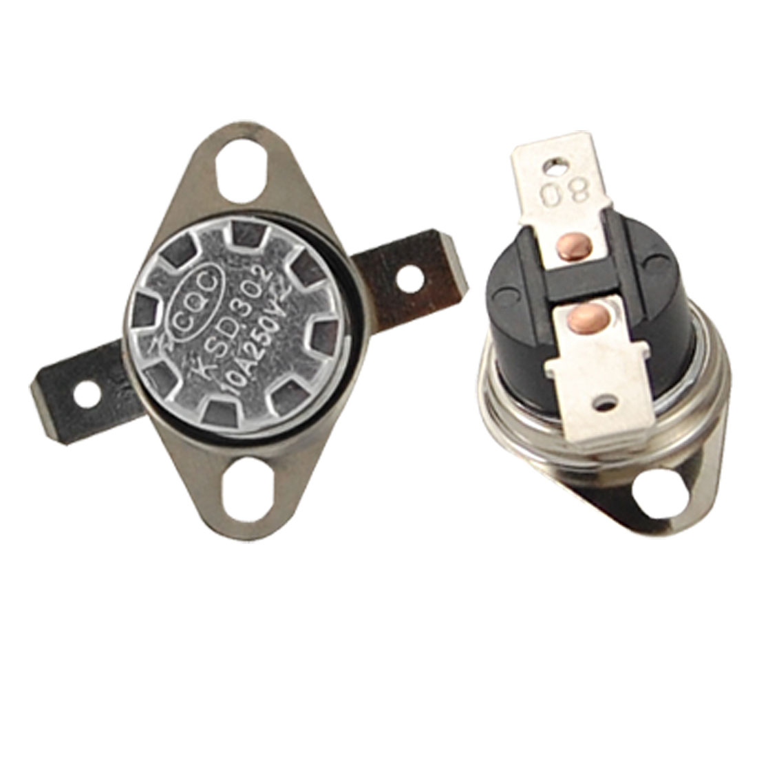 2 Pcs Temperature Control Switch Thermostat 176F 80 Celsius Normal Open KSD302