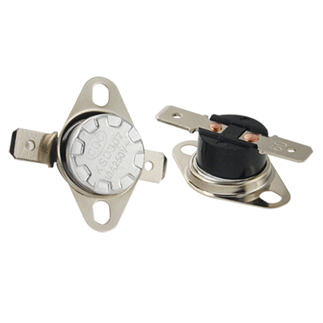 2 Pcs KSD302 Temperature Control Switch Thermostat 60 Celsius N.O