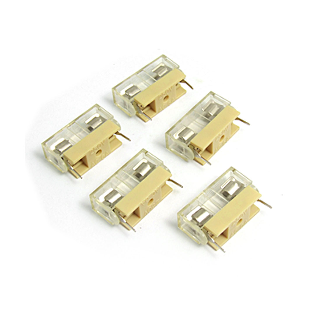5 Pcs Plastic Cover Holder XS-1033-1 250V 6A for 5 x 20mm Fuse