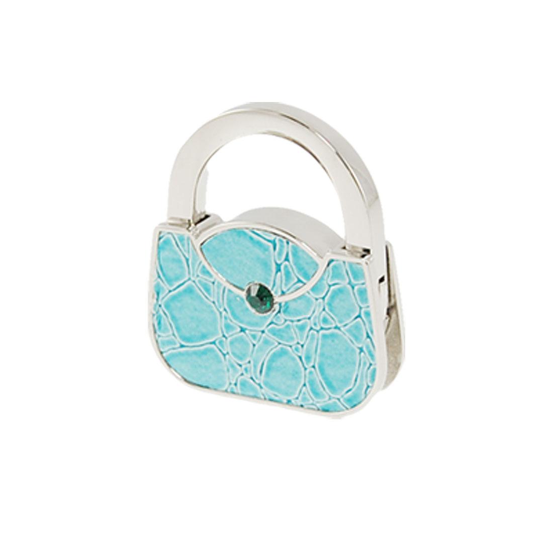 Handbag Shape Purse Crocodile Print Foldable Desk Hook