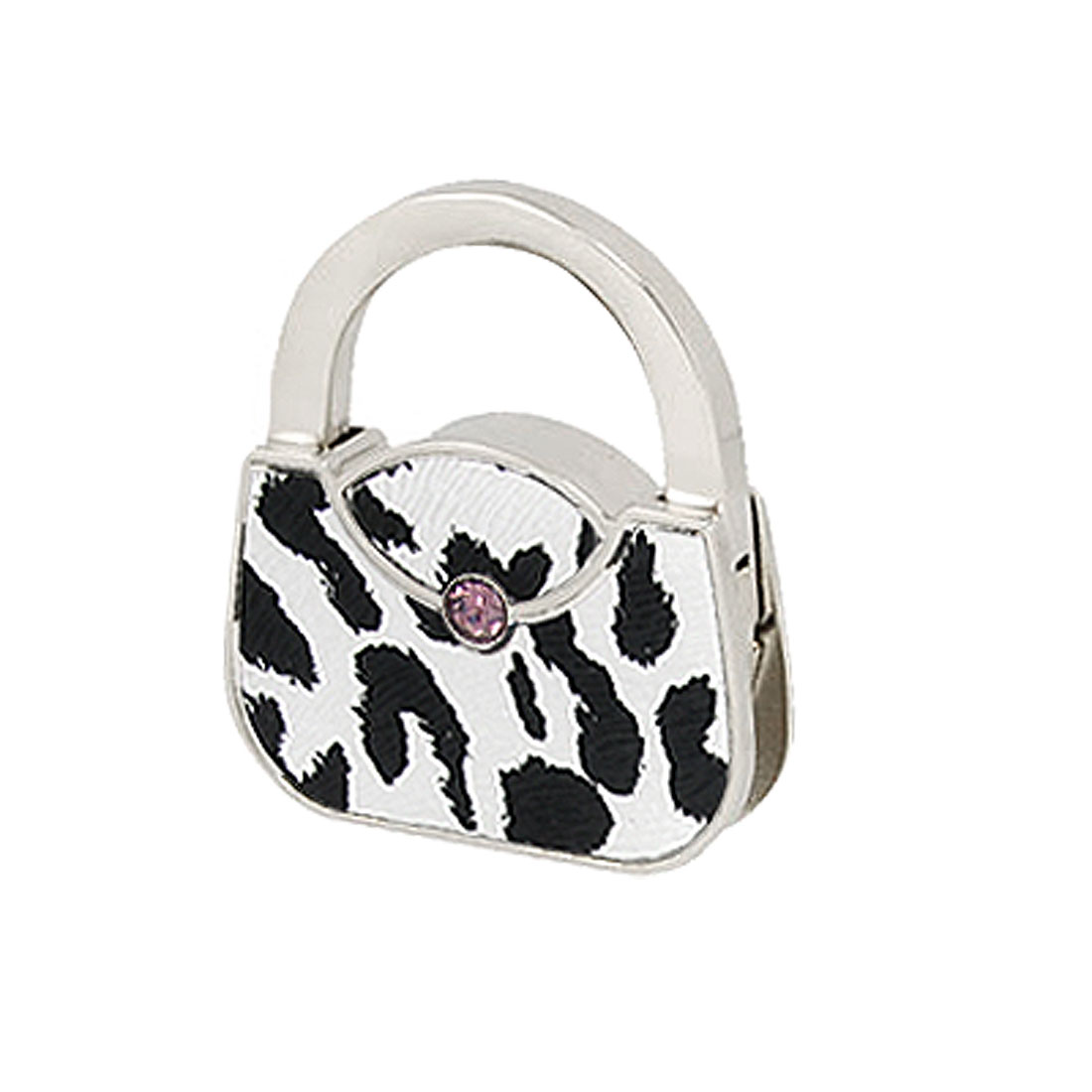 Handbag Shape Purse Leopard Print Foldable Table Hook