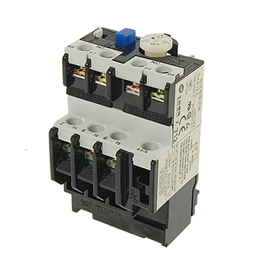 TH-P12E Manual Auto Conversion Type AC 220V/380V 3 Pole Thermal Overload Relay 1.3-2.1A