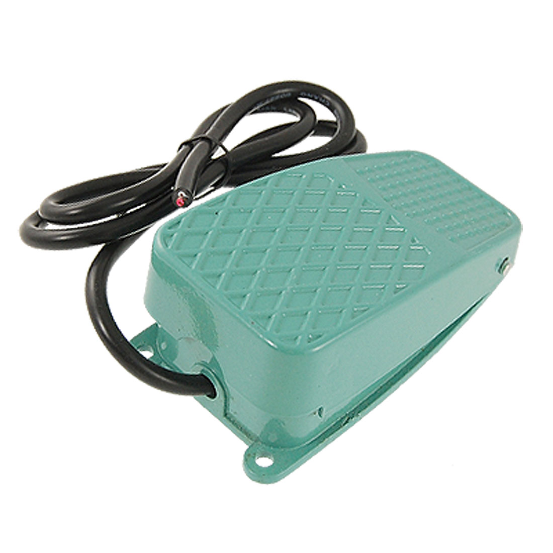 AC 250V 10A SPDT NO NC Nonslip Metal Momentary Power Foot Pedal Switch Green