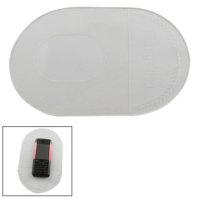Clear Grid Print Antislip Mobile Phone Sticky Mat Pad for Car
