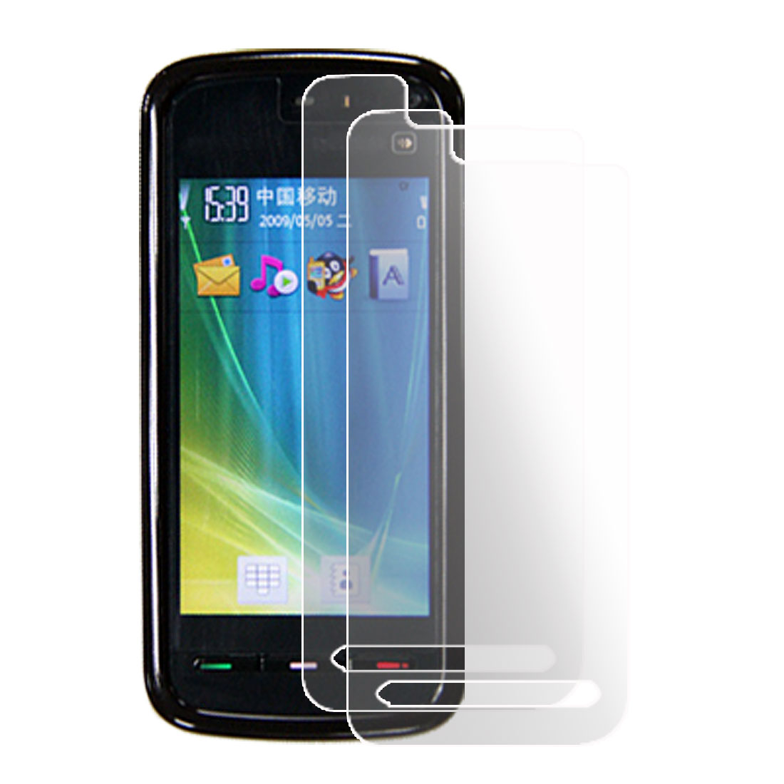 2 Pcs Clear Plastic Screen Protector Film for Nokia 5800