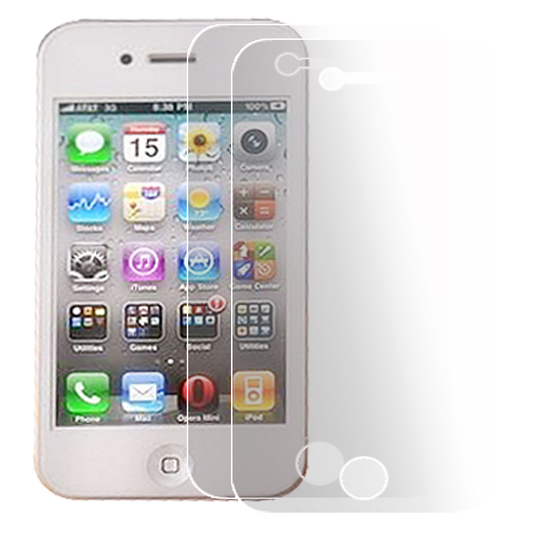 2 Pcs Clear Plastic Screen Protector Film for iPhone 4 4G