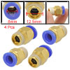 4 Pcs Air Pneumatic Piping 8mm Quick Joint Puch In Fittings