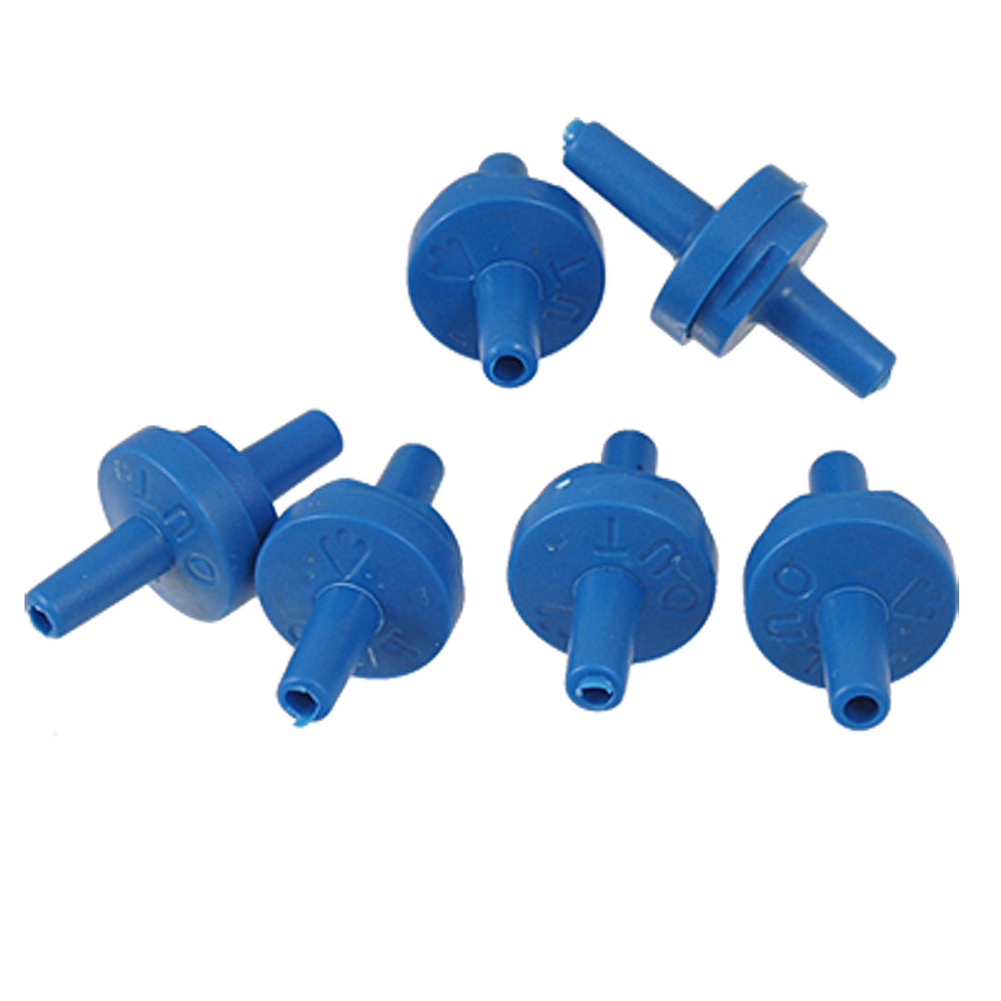 Aquarium Tank 6 Pcs Plastic Air Pump Blue Check Valves
