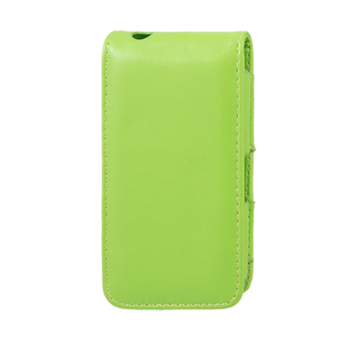 Magnetic Flip Green Faux Leather Pouch for iPhone 4 4G