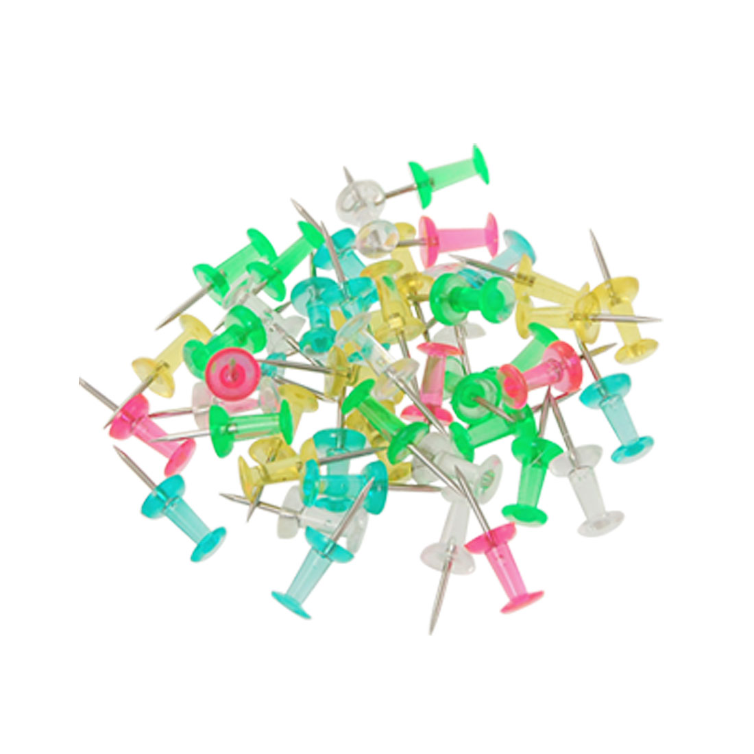 35 in 1 Metal Pin 5 Colors Plastic Steel Point Push Pins Head Thumb Tacks