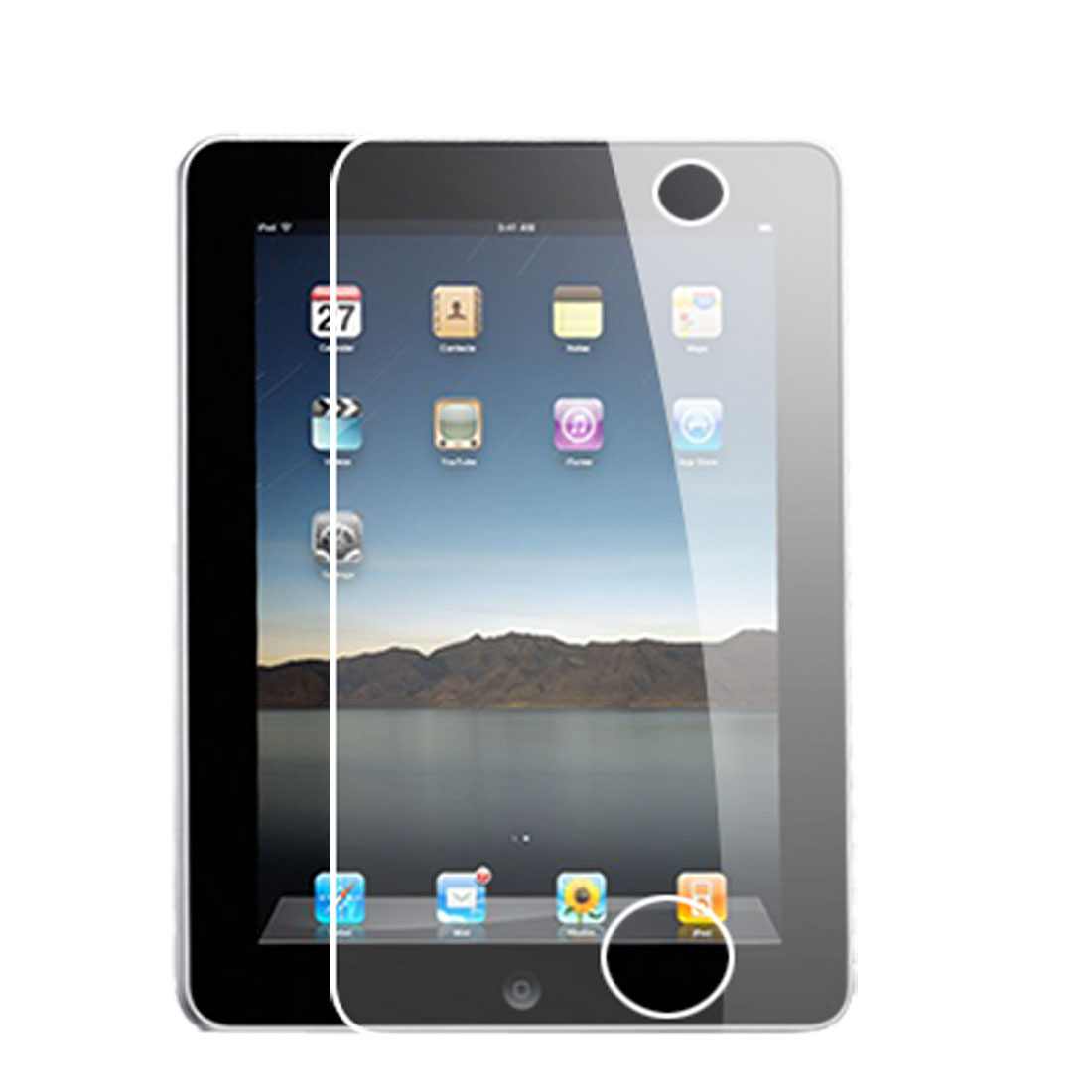 Clear Plastic Touch Screen Guard Protector for Apple iPad 2G