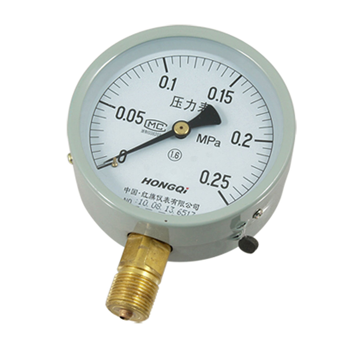 Air Water 1.6 Accuracy Class 0.25 Mpa Pressure Gauge