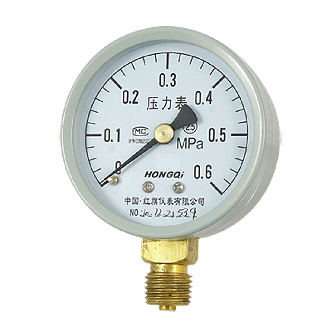 "0-0.6 MPa 0.55"" NPT Connector Liquid Air Pressure Gauge Manometer"
