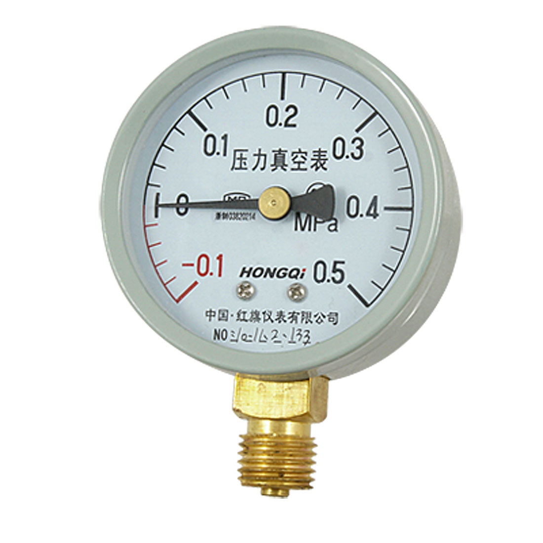"-0.1-0.5 MPa 0.55"" NPT Connector Compound Pressure Vacuum Gauge"