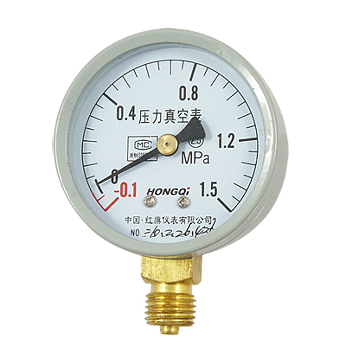 "0.55"" Threaded -0.1-1.5 MPa Air Compound Pressure Vacuum Gauge"