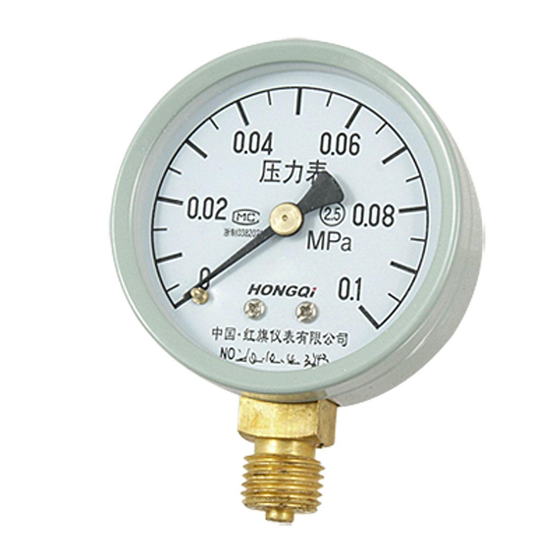 "0.55"" Theaded 0-0.1 MPa Liquid Air Pressure Measure Gauge"
