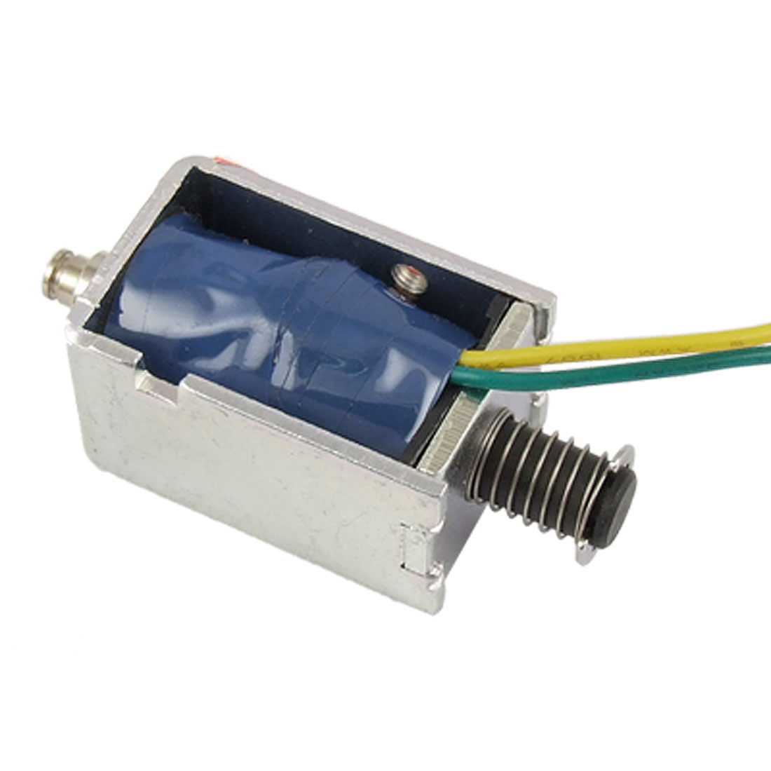 DC 12V 7.9W 0.66A Push Type Open Frame Solenoid Electromagnet