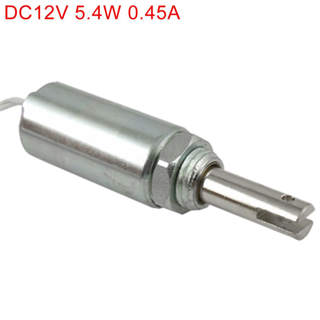 DC 12V 0.45A 10mm Stroke Pull Type Tubular Solenoid Electromagnet