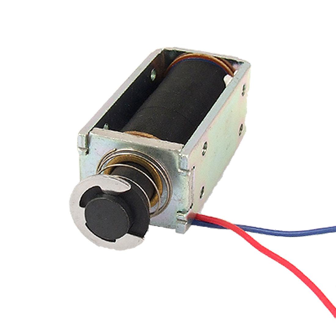 DC 24V 10mm Stroke Open Frame Push Type Linear Solenoid Electromagnet