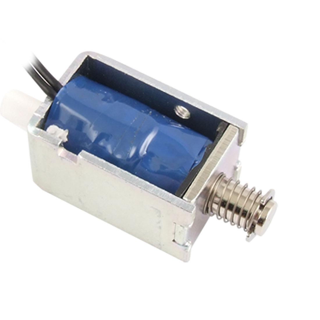6mm Stroke Push Type Open Frame Linear Solenoid Electromagnet DC 24V