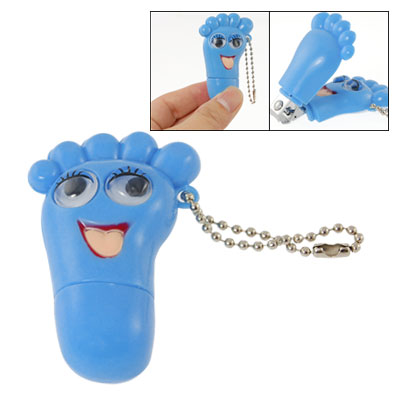 Maya Blue Foot Shaped Keychain Nail Clipper Cutter