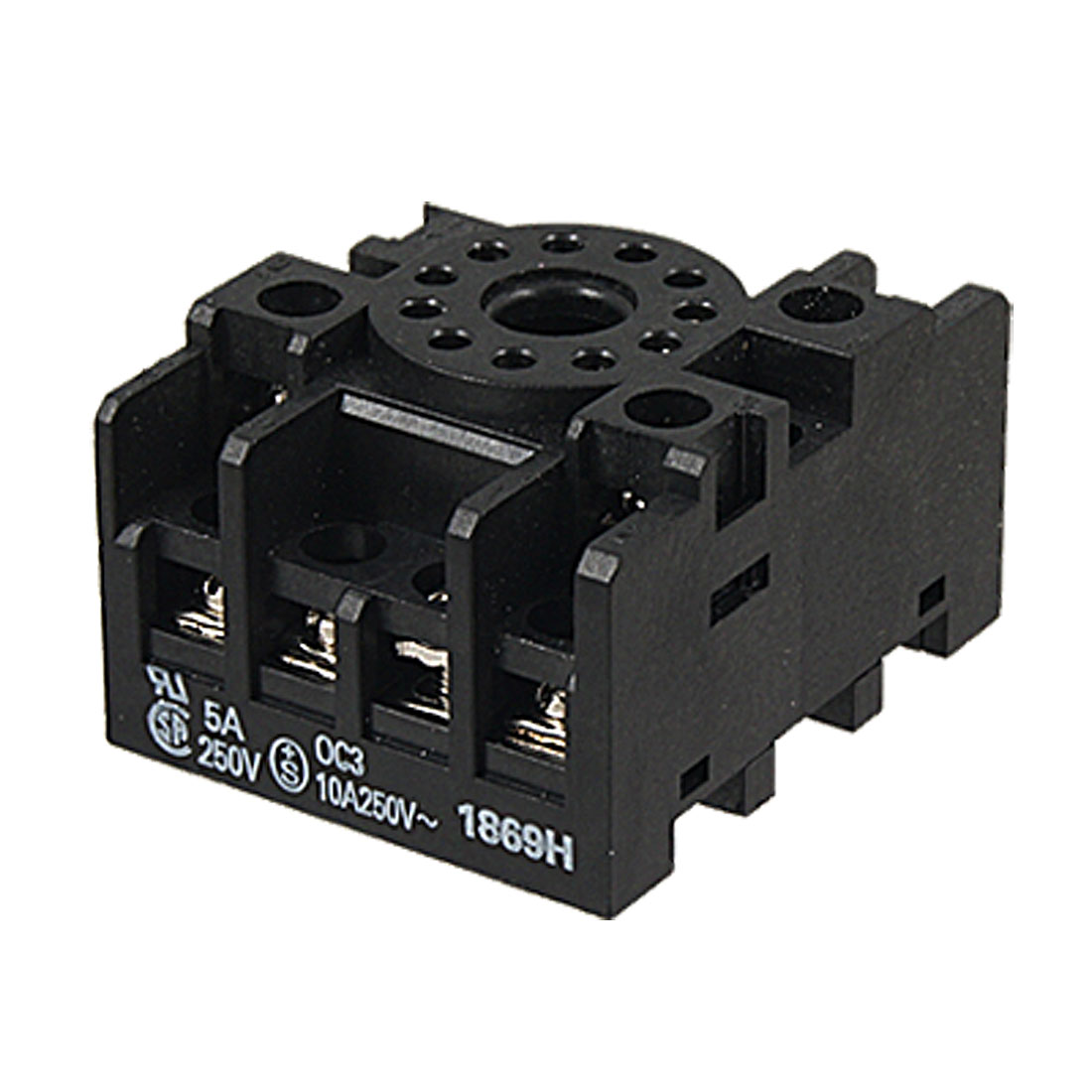 PF113A-E AC 250V 5A Round 11 Pin Power Relay Socket Base