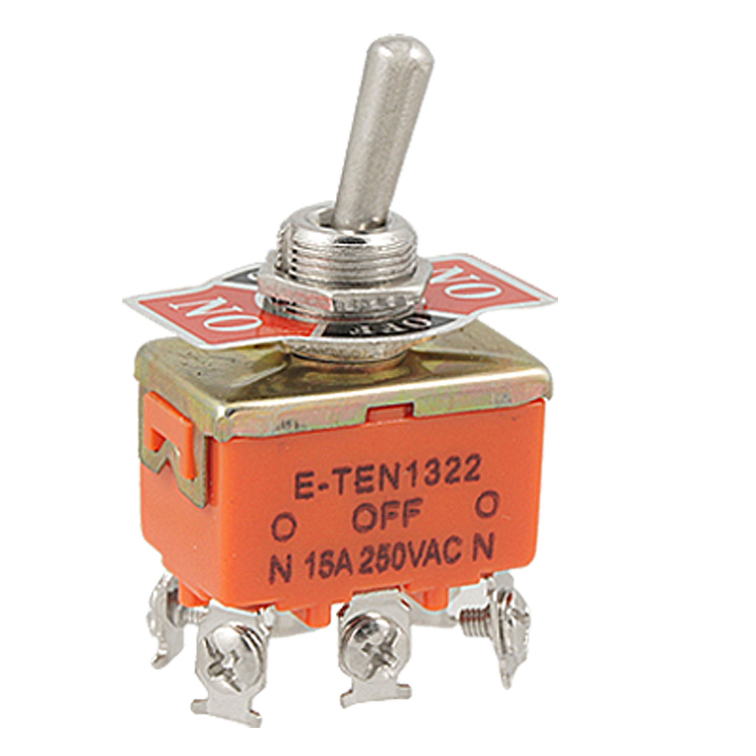 6-Terminals ON/OFF/ON DPDT Toggle Switch AC 250V 15A