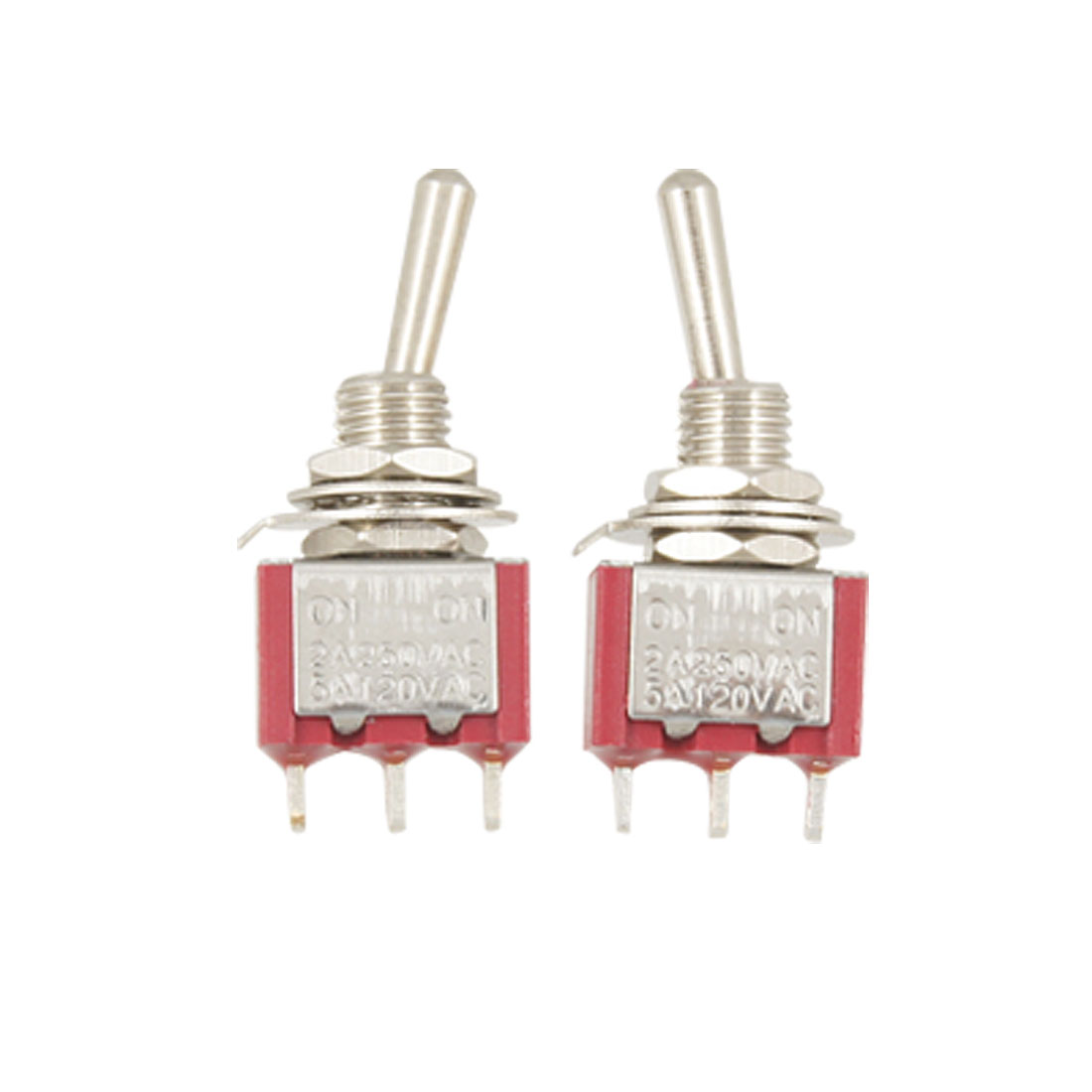 2 Pcs 2 Position ON/ON SPDT Toggle Switch w 3 Terminals