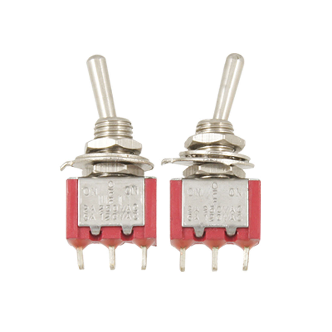 2 Pcs AC 120V/5A 250V/2A ON OFF ON SPDT Toggle Switches