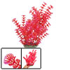 "11.4"" High Red Leaf Plastic Aquatic Plant Ornament for Aquarium"